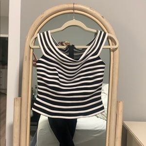 Vintage black and white stripe top. Great quality.